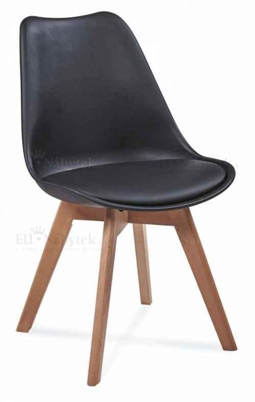 Skandinávská židle FORD černá