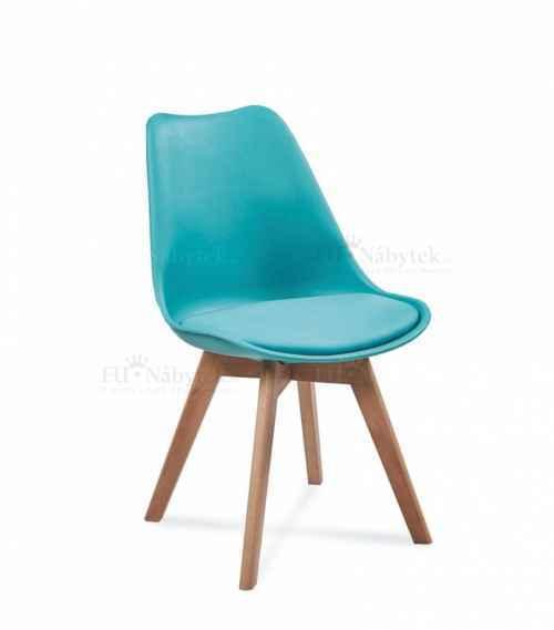 Skandinávská židle FORD tyrkysová