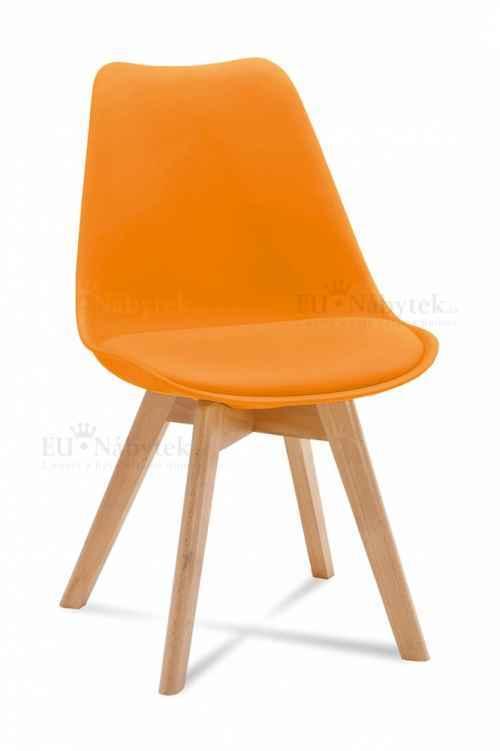 Skandinávská židle FORD oranžová