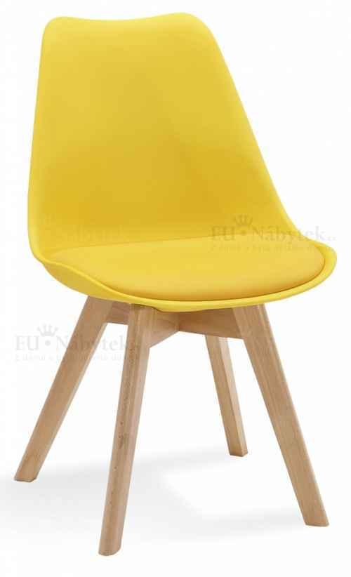 Skandinávská židle FORD žlutá
