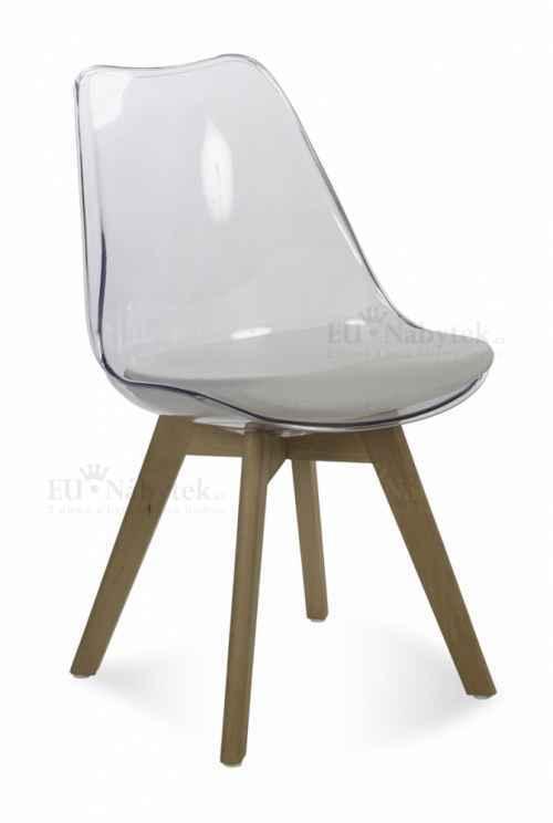 Skandinávská židle FORD transparentní