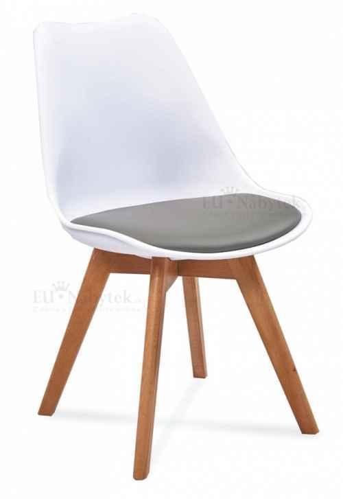 Skandinávská židle FORD 2 bílá / šedá