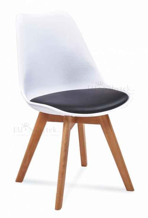 Skandinávská židle FORD 2 bílá / černá