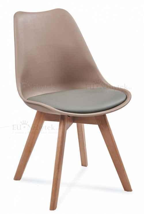 Skandinávská židle FORD 2 béžová / šedá