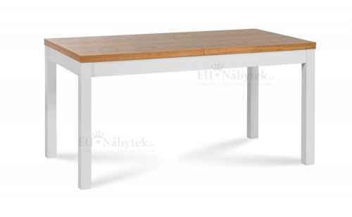 Rozkládací jídelní stůl AFRICA 150 dub / bílá