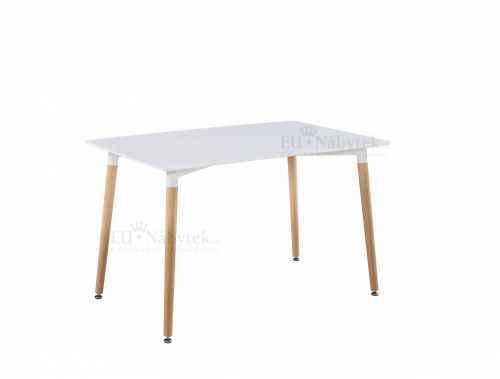 Jídelní stůl HANI 120 buk / bílá DOPRODEJ