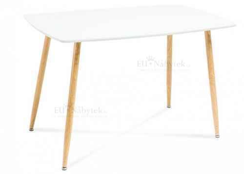 Jídelní stůl NEMO 120 dub / bílá