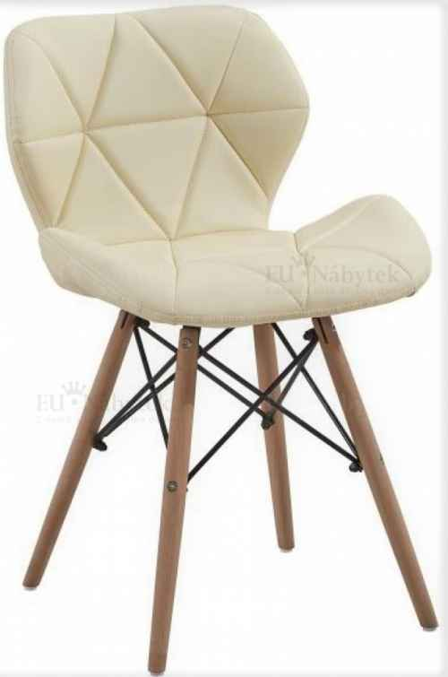 Skandinávská židle LIOTTE krémová