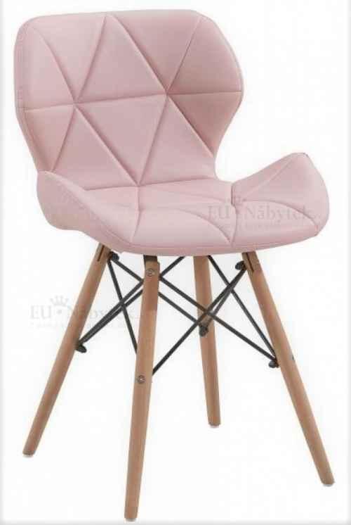 Skandinávská židle LIOTTE růžová