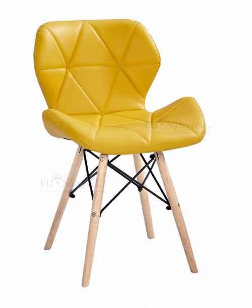Skandinávská židle LIOTTE žlutá