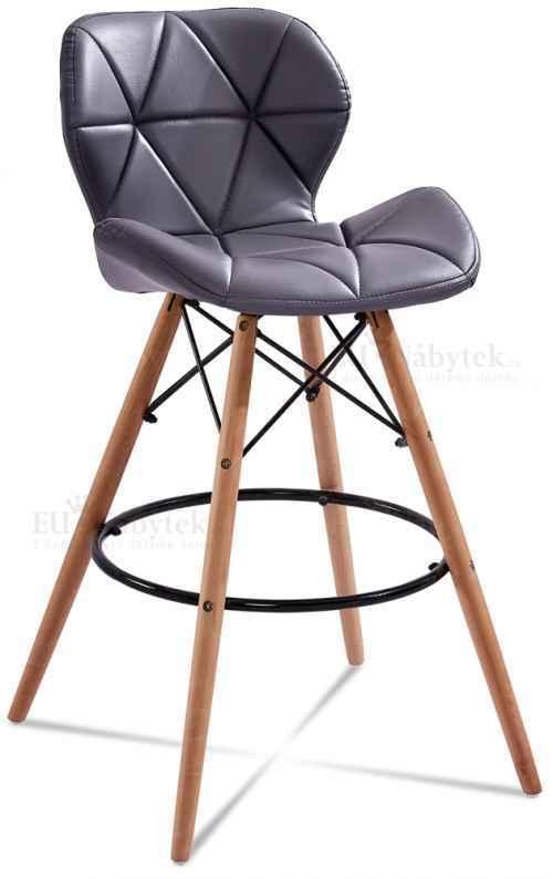 Skandinávská barová židle LIOTTE hoker tm.šedá