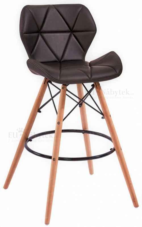 Skandinávská barová židle LIOTTE hoker černá