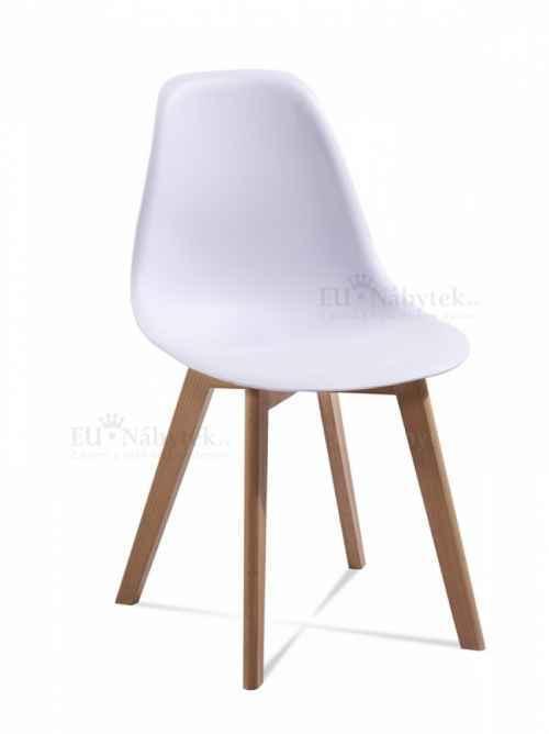 Skandinávská židle EDDIE bílá