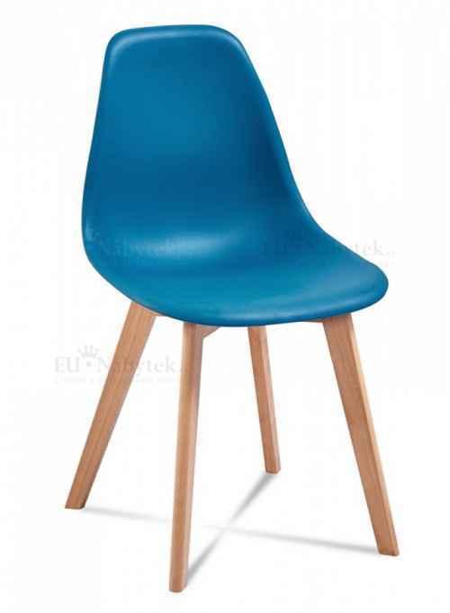 Skandinávská židle EDDIE modrá DOPRODEJ