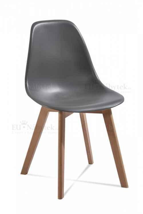 Skandinávská židle EDDIE tm.šedá