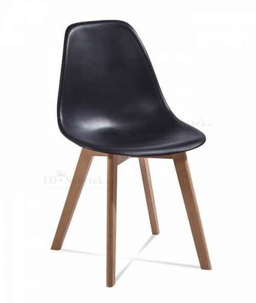 Skandinávská židle EDDIE černá DOPRODEJ