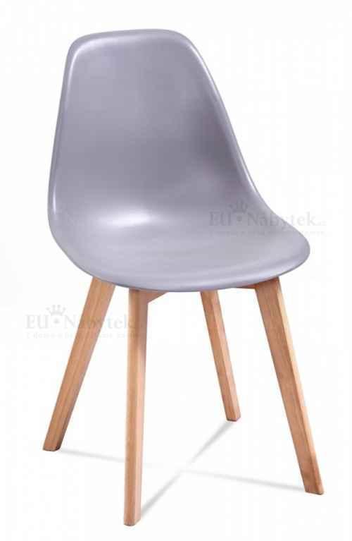 Skandinávská židle EDDIE šedá