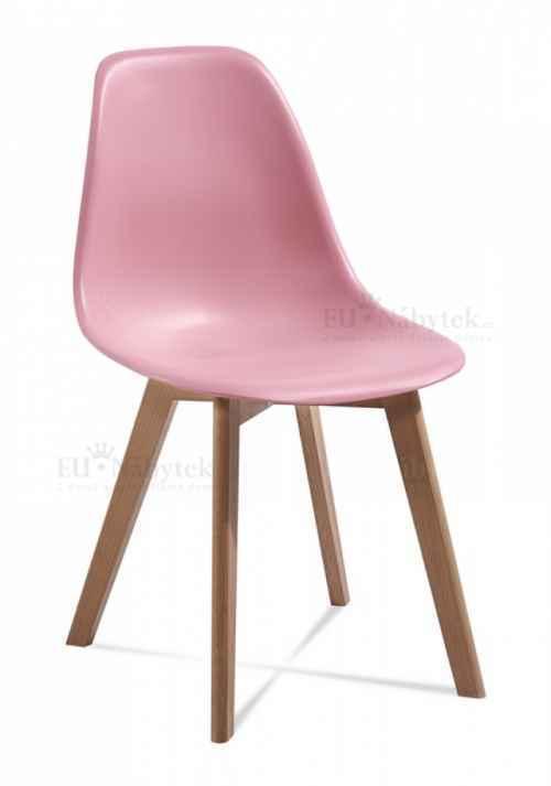 Skandinávská židle EDDIE růžová DOPRODEJ