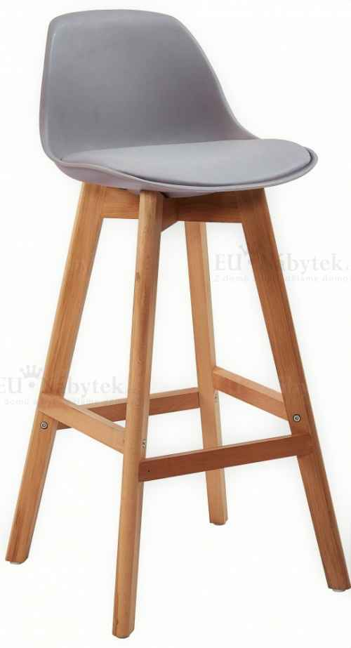 Skandinávská barová židle FORD hoker šedá