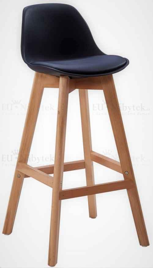 Skandinávská barová židle FORD hoker černá