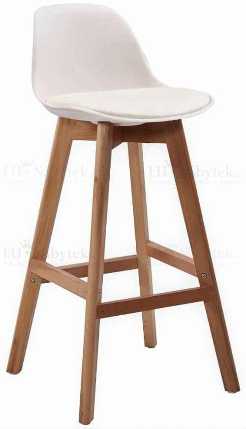 Skandinávská barová židle FORD hoker bílá