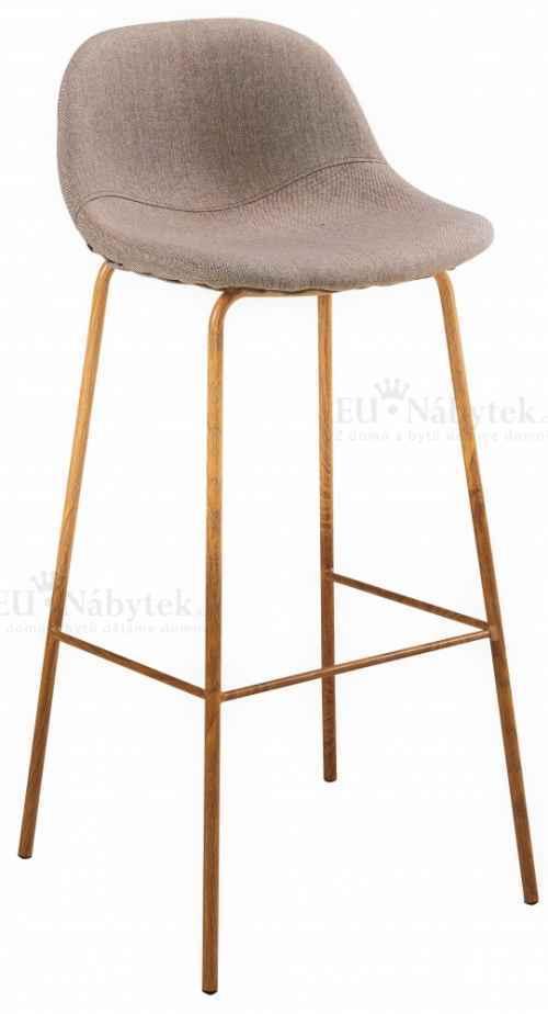 Skandinávská barová židle SIMONE hoker béžová