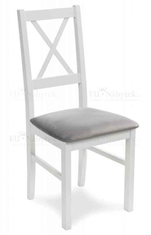 Jídelní židle DUKATO 11 bílá / šedá DOPRODEJ
