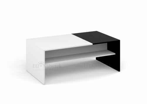 Konferenční stolek MONACO bílá/černá