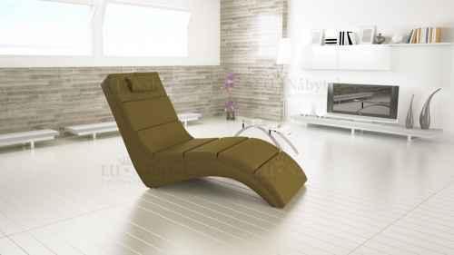 Relaxační křeslo TONGUE khaki ekokůže