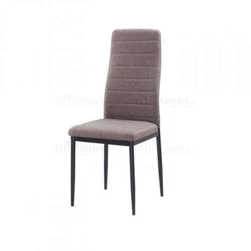 Židle, hnědá látka / černý kov, COLETA NOVA