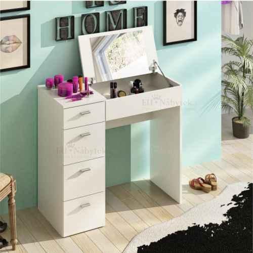 Toaletní stolek, bílá, BELINA