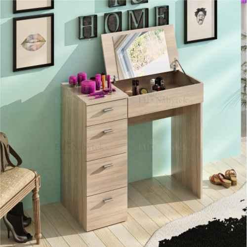 Toaletní stolek, dub sonoma, BELINA