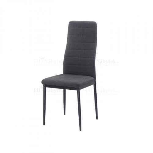 Židle, tmavě šedá látka / černý kov, COLETA NOVA