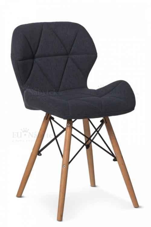 Skandinávská židle LIOTTE II tmavě šedá