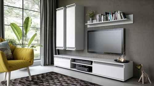 Obývací stěna EMANUEL bílá