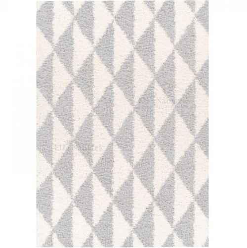 Koberec, krémově / šedá, 133x190, PIXEL