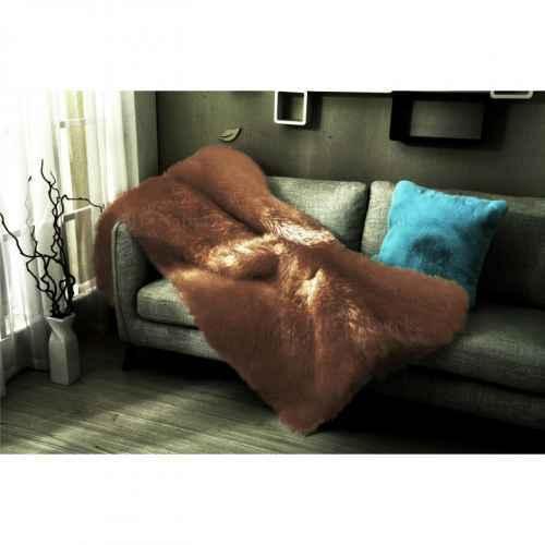 Kožešinová deka, hnědá, 150x170, Ebona TYP 3