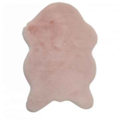 Umělá kožešina, růžová, 60x90, RABIT TYP 5