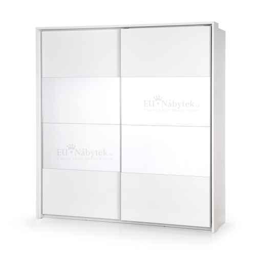 Šatní skříň DREAM SP-2 bílá se zrcadlem