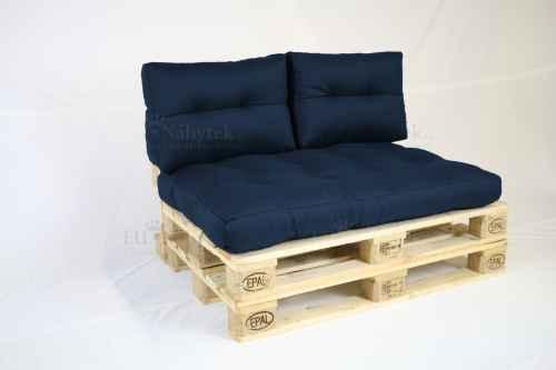 Paletový sedák s polštáři - královská modrá