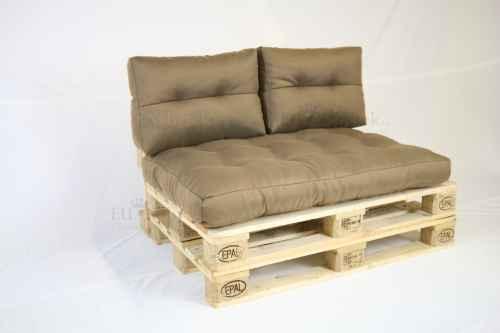 Paletový sedák s polštáři - béžová