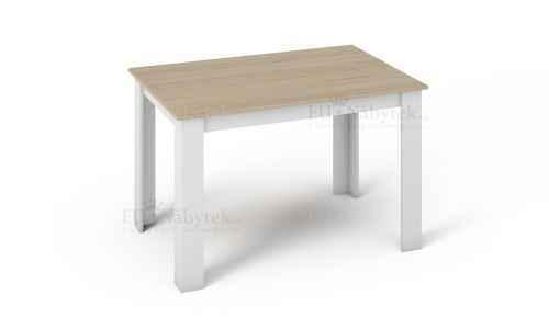 Jídelní stůl KING 120x80 bílá/dub sonoma