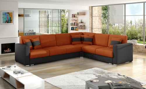 Rohová sedací souprava NERO oranžová/černá