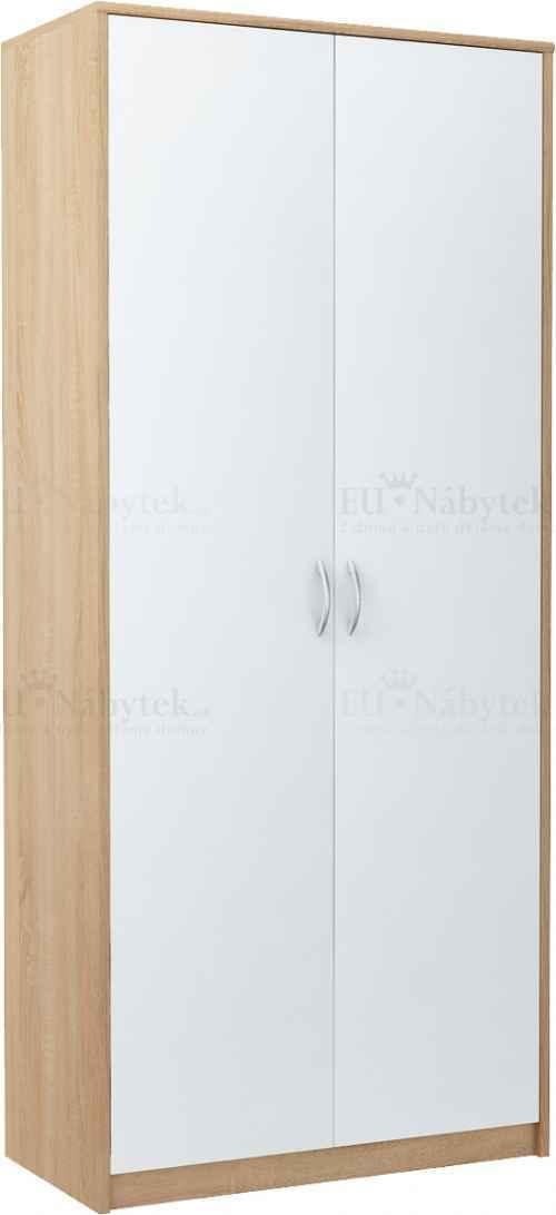 Šatní skříň VERONA 2D dub sonoma/bílá