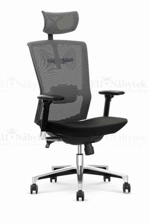 Kancelářská židle AMBASADOR šedá/černá