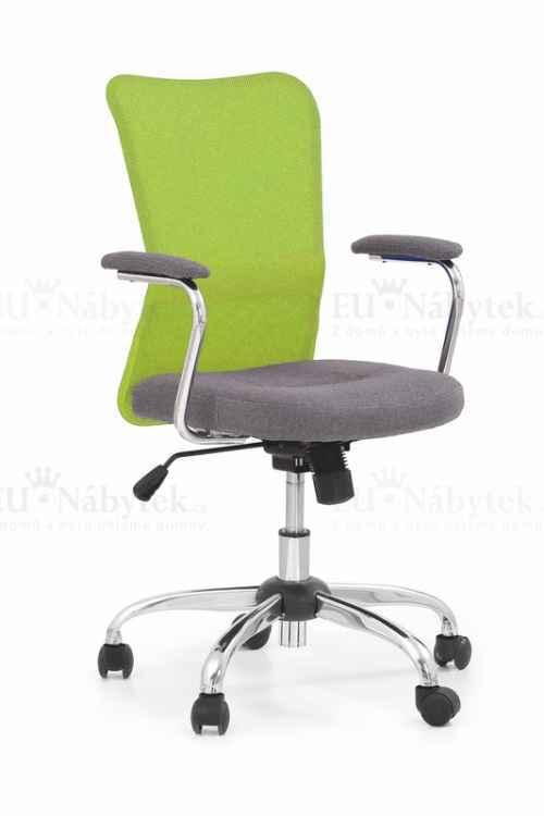 Kancelářská židle ANDY šedá/zelená