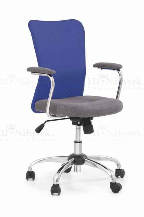 Kancelářská židle ANDY modrá/šedá