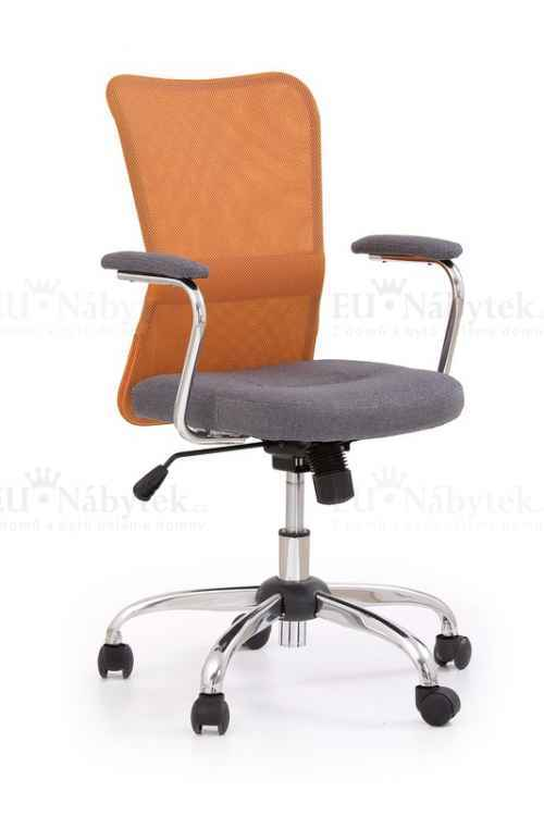 Kancelářská židle ANDY oranžové/šedé