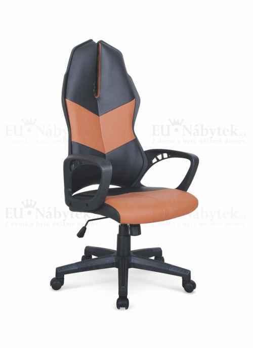 Kancelářská židle COUGAR 3 černá/oranžová