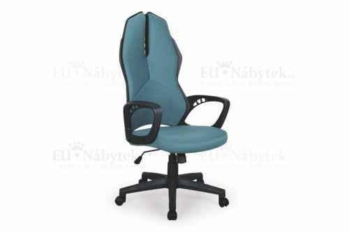 Kancelářská židle COUGAR černá/tyrkysová